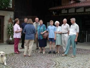 Helene Bader mit ihren Gästen